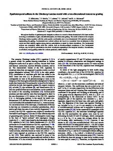 Spatiotemporal solitons in the Ginzburg-Landau ... - APS Link Manager