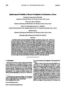 Spatiotemporal Variability of Summer Precipitation in Southeastern ...