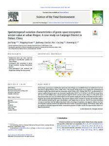 Spatiotemporal variation characteristics of green ...