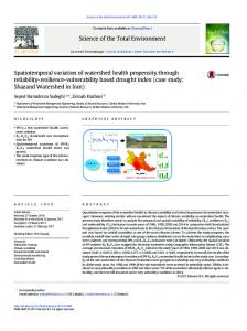 Spatiotemporal variation of watershed health ...