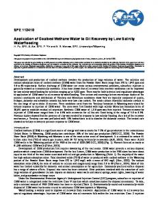 SPE 113410 Application of Coalbed Methane Water to Oil Recovery ...