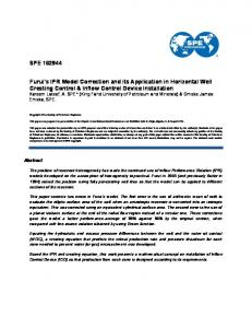 SPE 162944 Furui's IPR Model Correction and its ... - OnePetro