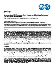 SPE 167025 Unconventional Oil Production from ...