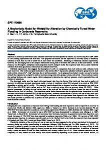 SPE 170966 A Mechanistic Model for Wettability