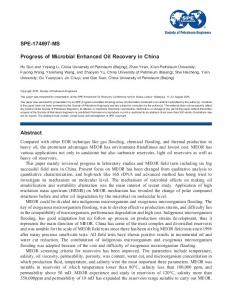 SPE-174697-MS Progress of Microbial Enhanced Oil Recovery in ...