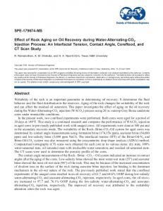 SPE-179674-MS Effect of Rock Aging on Oil Recovery ... - OnePetro