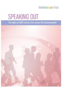 SPEAKING OUT - The Kaleidoscope Trust