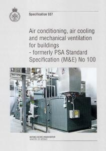 SPEC 37 Air Conditioning, Air Cooling and Mechanical Ventilation ...