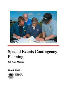 Special Events Contingency Planning Manual