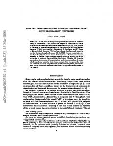 SPECIAL HOMOMORPHISMS BETWEEN PROBABILISTIC GENE ...