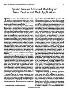 Special Issue on Advanced Modeling of Power Devices ... - IEEE Xplore