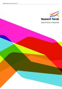 Special Issue on Big Data