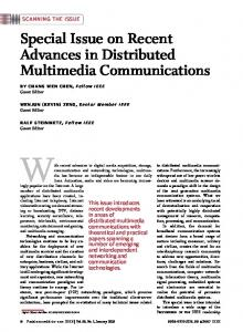 Special Issue on Recent Advances in Distributed ... - IEEE Xplore
