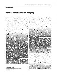Special Issue: Thoracic Imaging - Wiley Online Library