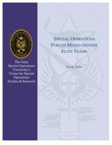 special operations forces mixed-gender elite teams - Department of ...