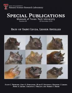 Special Publications Special Publications - Natural Science Research