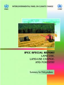 Special Report on Land Use, Land-Use Change, and Forestry