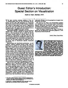 special section on visualization - IEEE Xplore