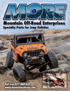 Specialty Parts for Jeep Vehicles