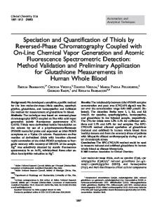 Speciation and Quantification of Thiols by ... - Clinical Chemistry