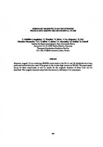 Speciation, Techniques and Facilities for Radioactive ...