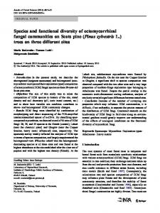 Species and functional diversity of ectomycorrhizal ... - Springer Link