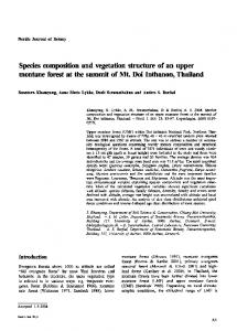 Species composition and vegetation structure of ... - Wiley Online Library