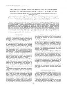 species identification within the anopheles funestus group ... - CiteSeerX