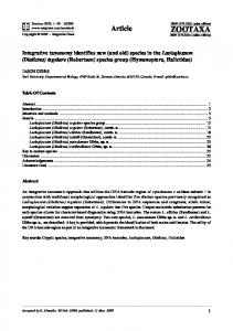 species in the Lasioglossum - Anthophila- an online repository of bee ...
