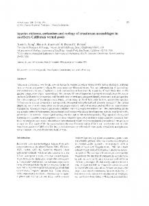 Species richness, endemism and ecology of ... - Richard C. Brusca