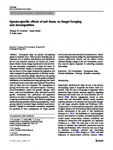 Species-specific effects of soil fauna on fungal ...