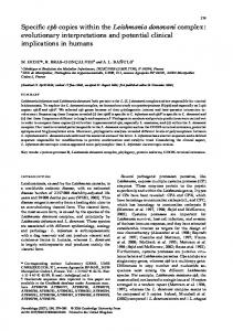 Specific cpb copies within the Leishmania donovani ... - mivegec - IRD