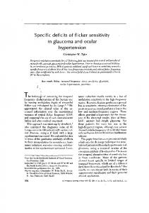 Specific deficits of flicker sensitivity in glaucoma ... - Christopher Tyler