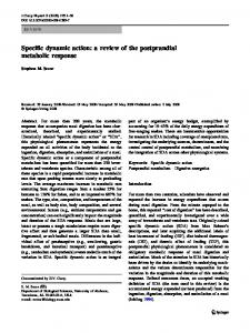 Specific dynamic action: a review of the ... - Dr. Stephen Secor