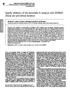 Specific inhibition of the endothelin A receptor with ZD4054: clinical ...