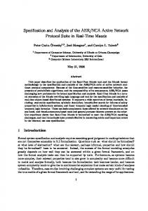 Specification and Analysis of the AER/NCA Active Network Protocol ...