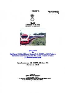 Specification no. MP-0.08.00.106 - rdso - Indian Railway