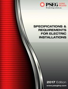 SPECIFICATIONS AND REQUIREMENTS FOR ELECTRIC ...