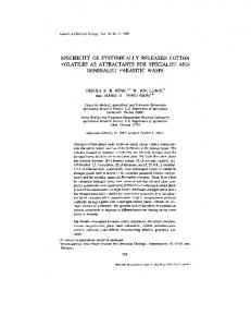 Specificity of Systemically Released Cotton Volatiles ... - naldc - USDA