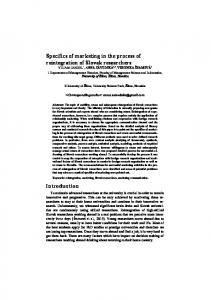 Specifics of marketing in the process of reintegration ...