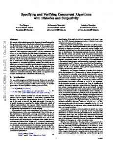 Specifying and Verifying Concurrent Algorithms with Histories and ...
