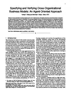 Specifying and Verifying Cross-Organizational Business Models: An ...