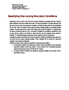 Specifying time varying Boundary Conditions
