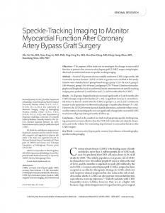Speckle-Tracking Imaging to Monitor Myocardial ... - Wiley Online Library