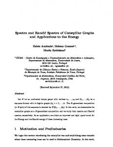 Spectra and Randic Spectra of Caterpillar Graphs and ...