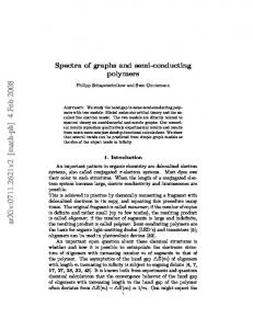 Spectra of graphs and semi-conducting polymers