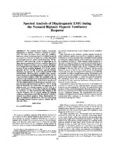Spectral Analysis of Diaphragmatic EMG during the Neonatal ... - Nature