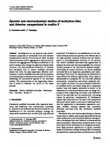 Spectral and electrochemical studies of methylene blue and thionine ...