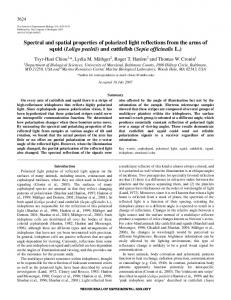 Spectral and spatial properties of polarized light reflections from the ...