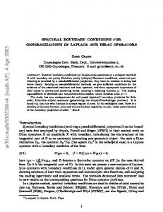 SPECTRAL BOUNDARY CONDITIONS FOR GENERALIZATIONS OF